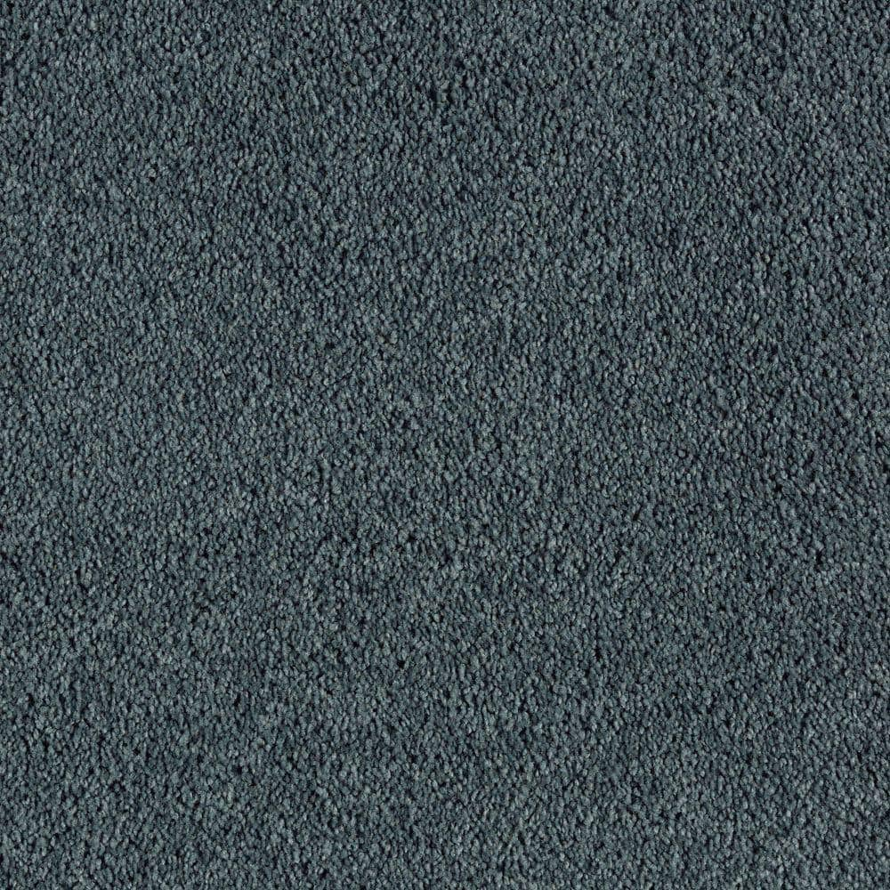 Lifeproof Ambrosina II - Color Persian Blue Texture 12 ft. Carpet