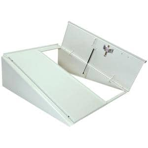 Classic Series 55 in. x 72 in. White Powder Coated Painted Steel Cellar Door with Lock Kit