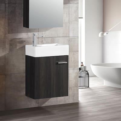 18 Inch Vanities Floating Bathroom Vanities Bath The Home Depot