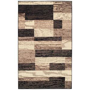 Rockwood Chocolate 5 ft. x 8 ft. Rectangle Abstract Geometric Polypropylene Area Rug