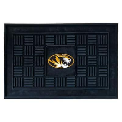 University of Missouri 19.5 in. x 31 in. Outdoor Black Vinyl Door Mat