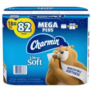 Ultra-Soft Toilet Paper (18-Mega Plus Rolls)