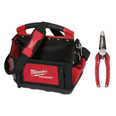 15 in. PACKOUT Tote with 6-in-1 Wire Stripper Pliers