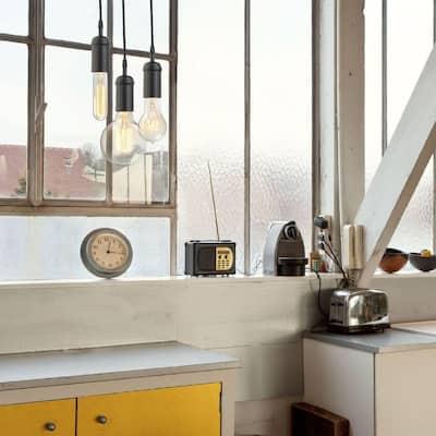 1-Light Vintage Edison Matte Black Mini Pendant
