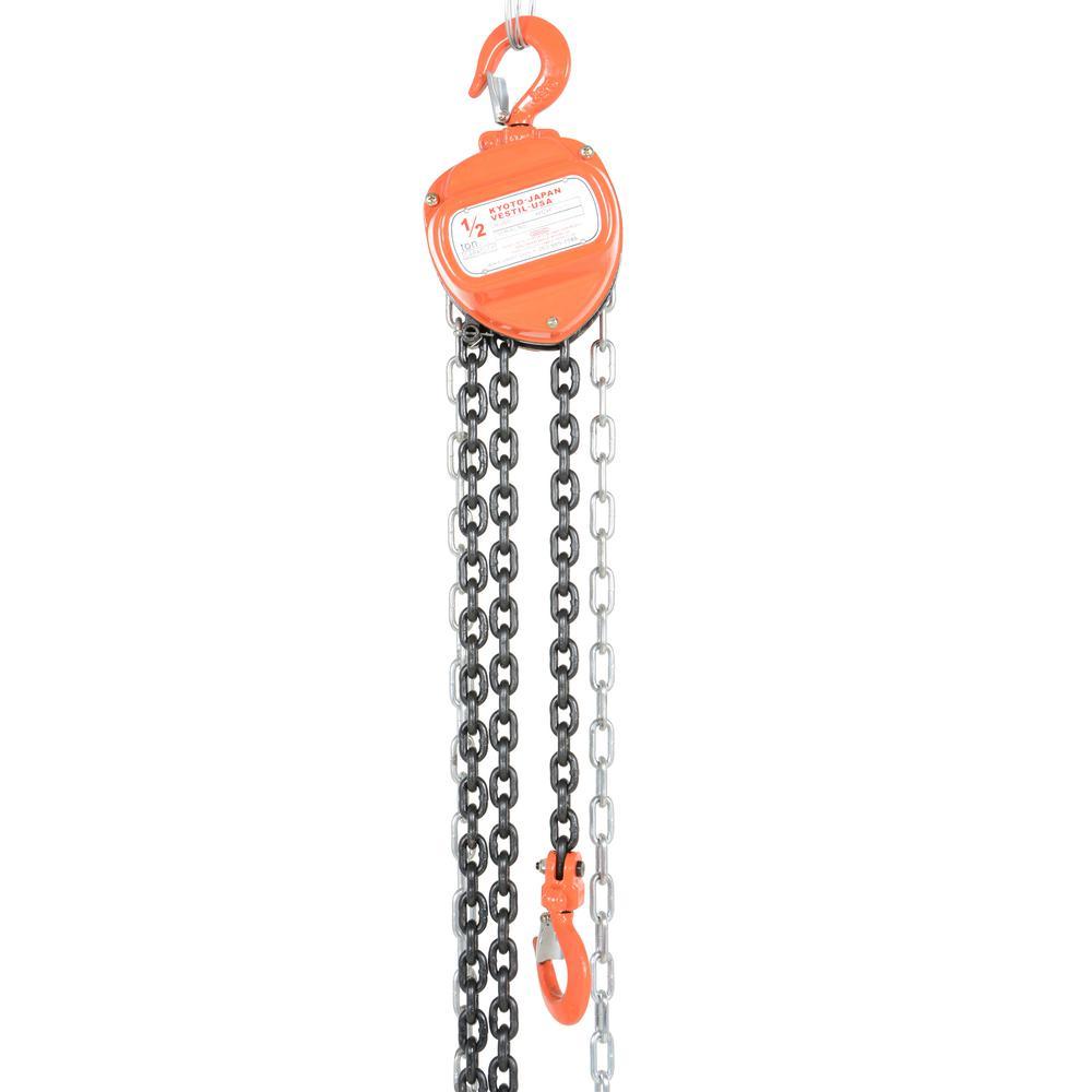 Vestil 1,000 lbs. Capacity 10-ft Manual Chain Hoist