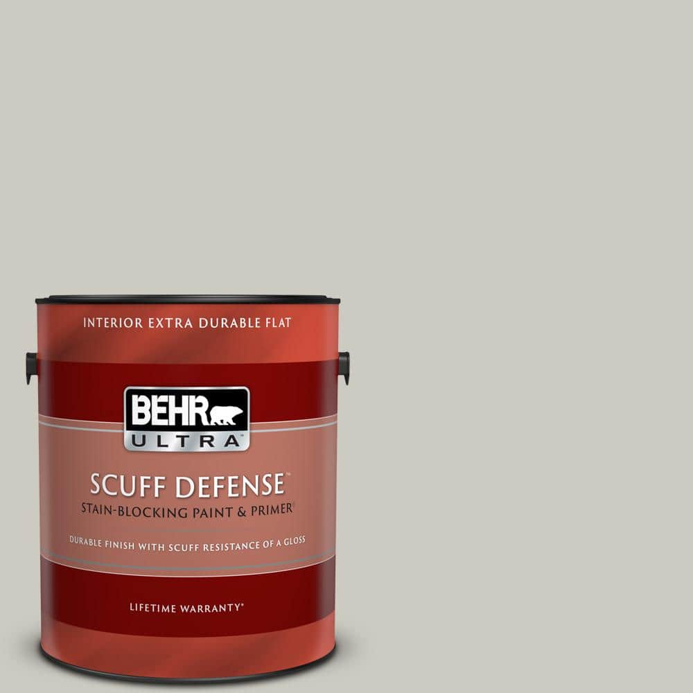 Behr Ultra 1 Gal 790c 3 Dolphin Fin Extra Durable Flat Interior Paint Primer 172001 The Home Depot