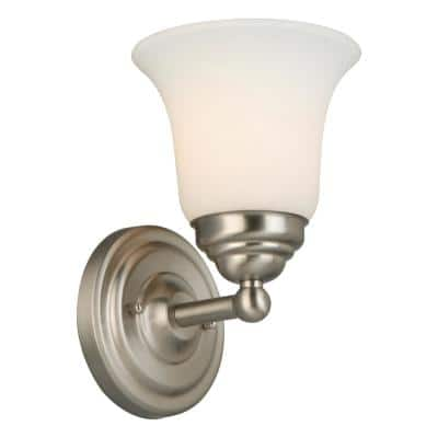 Ashhurst 1-Light Brushed Nickel Wall Sconce