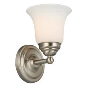 Ashhurst 1-Light Brushed Nickel Wall Sconce