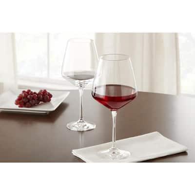 Genoa Lead-Free Crystal 26.5 fl. oz. Red Wine, 15.5 fl. oz. White Wine and 12 fl. oz. Champagne Glasses (Set of 12)