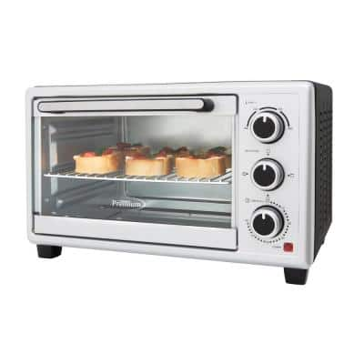 1440 W 6-Slice Silver Toaster Oven with Automatic Shut-Off