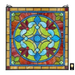 Casino Palais Tiffany-Style Stained Glass Window Panel