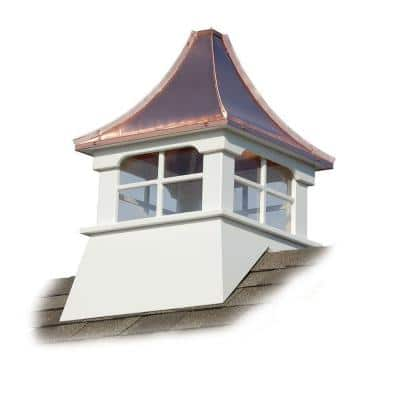 Charleston 24 in. x 24 in. x 39 in. Composite Vinyl Cupola with Copper Roof