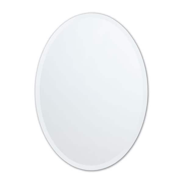 Better Bevel 20 In W X 27 H, Vanity Mirror Frameless Oval