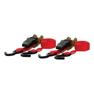 10' Red Cargo Straps with S-Hooks (500 lbs., 2-Pack)