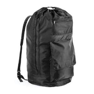 Black Polyester Duraclean Laundry Backpack