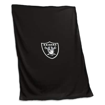 Las Vegas Raiders Black Polyester Sweatshirt Blanket