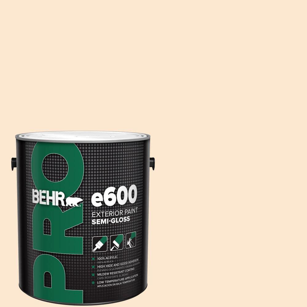Behr Pro 1 Gal M230 2 Fair Ivory Semi Gloss Exterior Paint Pr67001 The Home Depot