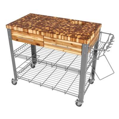 Stadium Powder Coat Kitchen Cart with Storage