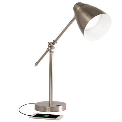 Harmonize 19 in. Brushed Nickel LED Desk Lamp