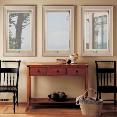 28.25 in. x 48.25 in. W-2500 Right-Hand Casement Wood Screen Window