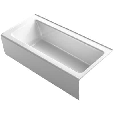 Bellwether 66 in. Right Drain Rectangular Alcove Bathtub with Integral Apron in White