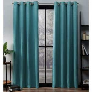 Teal Thermal Grommet Blackout Curtain - 52 in. W x 84 in. L (Set of 2)