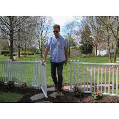 4.3 ft. W x 3 ft. H White Vinyl Baskenridge Fence Gate