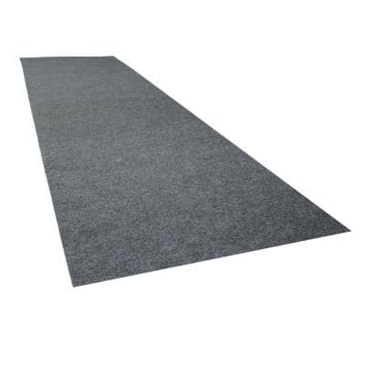 2 ft. 5 in. x 9 ft. Charcoal Grey Commercial Polyester Garage Flooring