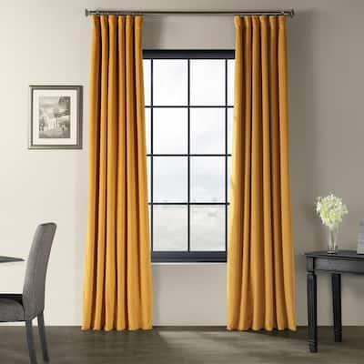 Fool's Gold Velvet Rod Pocket Blackout Curtain - 50 in. W x 96 in. L