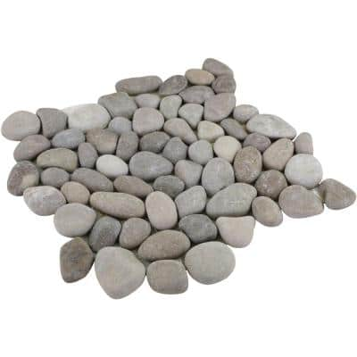 Natural Tan 12 in. x 12 in. Blended Natural Pebble Floor and Wall Tile (5.0 sq. ft. / case)