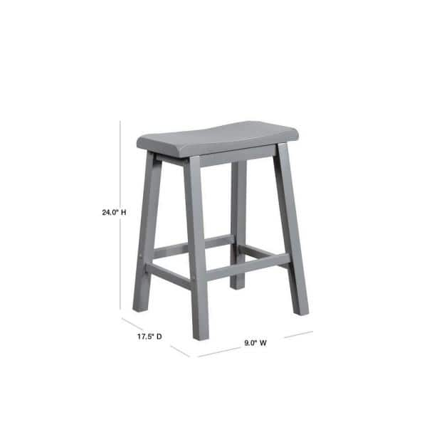 Powell Company Werner 24 In Grey Counter Stool Hd1175b19cs The Home Depot