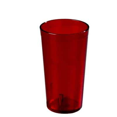 16 oz. SAN Plastic Stackable Tumbler in Ruby (Case of 72)