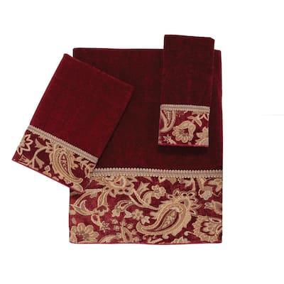 Brick Arabesque Cotton Towel Set (3-Piece)