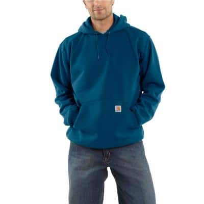 Men's Extra-Large Tall Superior Blue Cotton/Polyester SweatShirt Hooded Pullover Org Fit