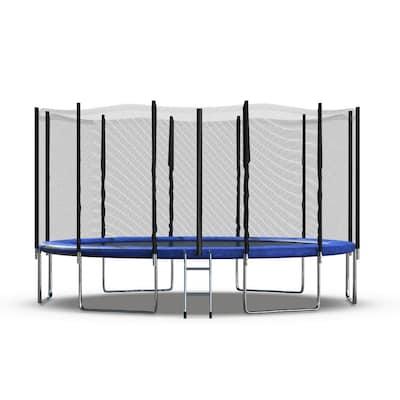 16 ft. Trampoline Set  Head Cover Outdoor Kid Play Jump Garden Trampoline Set Net