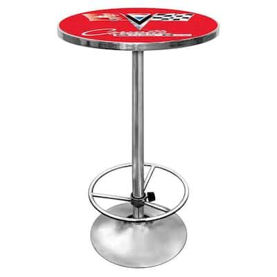 Corvette C2 Red Pub/Bar Table