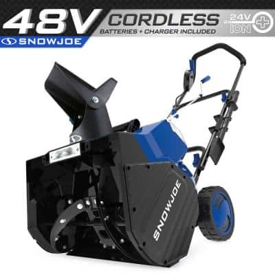 18 in. 48-Volt Cordless Electric Snow Blower Kit with 2 x 5.0 Ah Batteries Plus Charger