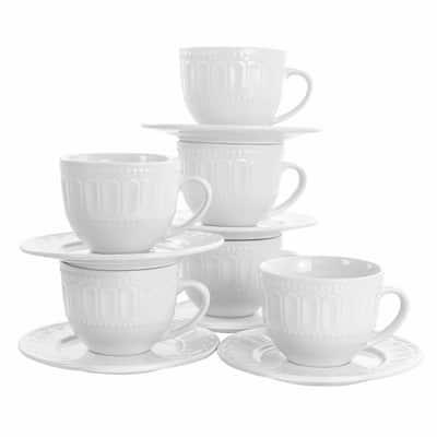 10 oz. Charlotte White Porcelain Mug (Set of 6)