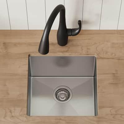 Standart PRO 16 Gauge Stainless Steel 17 in. Undermount Bar Sink