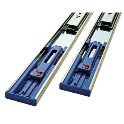 18 in. Soft-Close Full Extension Side Mount Ball Bearing Drawer Slide Set 1-Pair (2 Pieces)