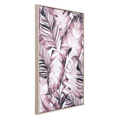 """""""Tropical Palm"""" Printed Canvas Wall Art 24.8 in. x 36.6 in."""
