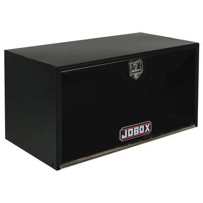 Pro 24 in. Long Heavy-Gauge Steel Under Bed Box in Black