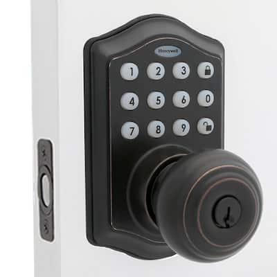 Oil Rubbed Bronze Keypad Electronic Knob Entry Door Lock