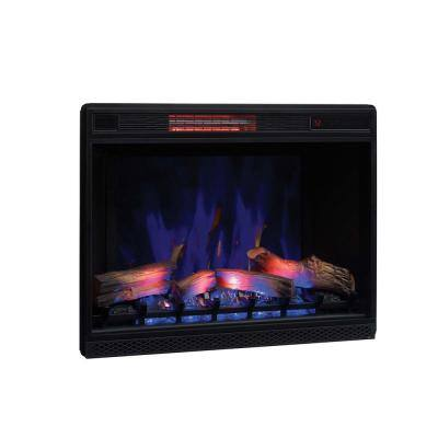 33 in. Ventless Infrared Electric Fireplace Insert with Trim Kit