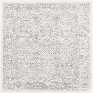 Saul White 6 ft. 7 in. x 6 ft. 7 in. Square Area Rug