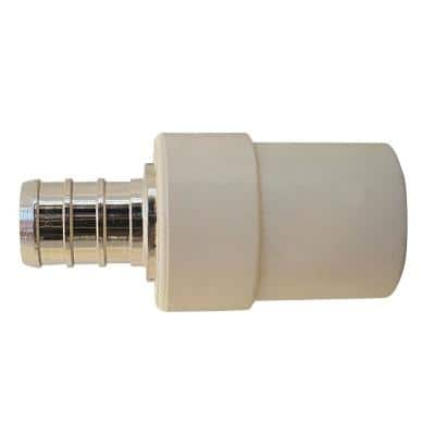1/2 in. Chrome Plated Brass Barb x CPVC CTS Transition Coupling