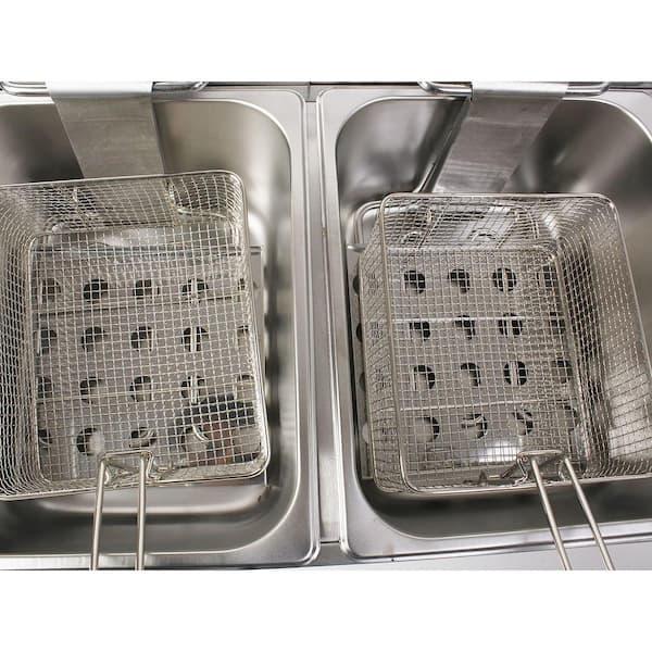BRE 2-Basket 22L Commercial Electric 5KW Countertop  Fryer Fish/&Chip 1-Tank