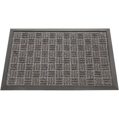 Wellington Carpet Doormat Charcoal 24 in. x 36 in. Rubber Carpet Mat