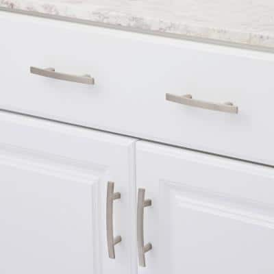 3 in. (76 mm) Center-to-Center Brushed Nickel Transitional Drawer Pull (10-Pack)