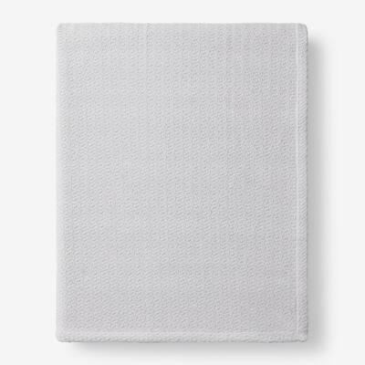 Organic Cotton Gray Solid Full Woven Blanket